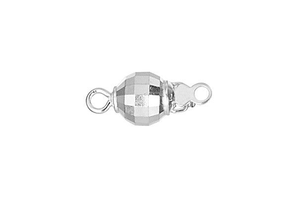 Sterling Silver Mirror Bead Clasp, 6.0mm