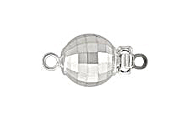 Sterling Silver Mirror Bead Clasp, 8.0mm