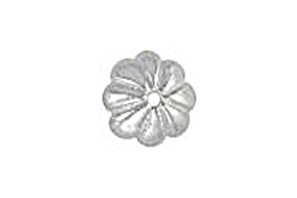 Sterling Silver Flower Bead Cap, 6.0mm
