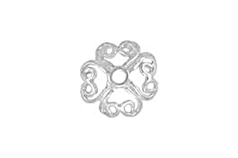 Sterling Silver Filigree Bead Cap, 8.0mm