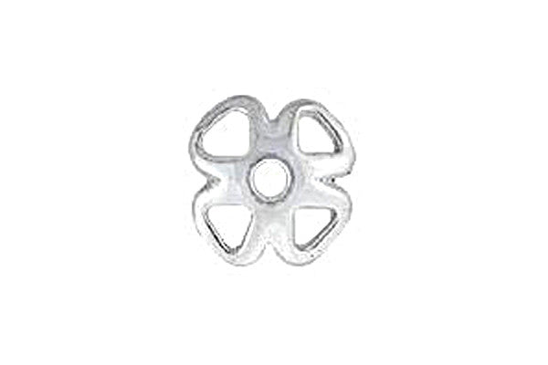 Sterling Silver Clover Bead Cap, 8.0mm