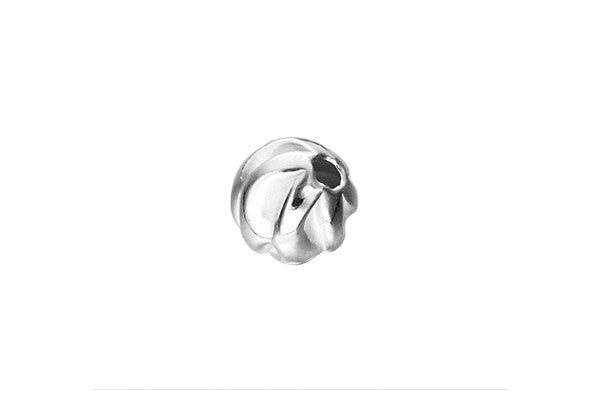 Sterling Silver Twist Bead, 7.0mm