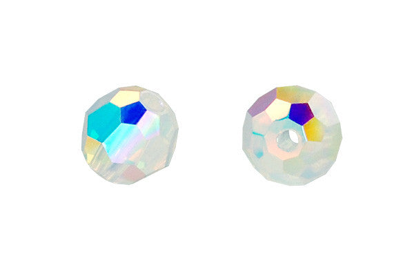 29970d569 Swarovski Crystal Faceted Round (5000) White Opal (AB2X) – GemMall