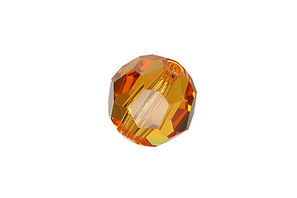 Swarovski Crystal Faceted Round (5000) Topaz