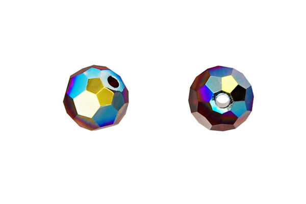 Swarovski Crystal Faceted Round (5000) Siam (AB)