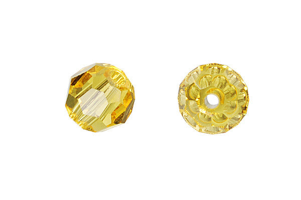 bcf38b87d08c2 Swarovski Crystal Faceted Round (5000) Light Topaz – GemMall