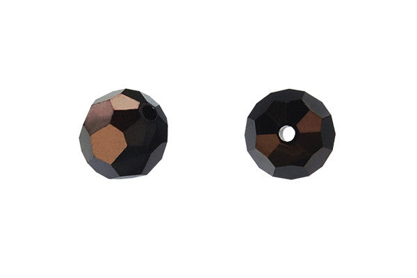 Swarovski Crystal Faceted Round (5000) Jet (Nut)