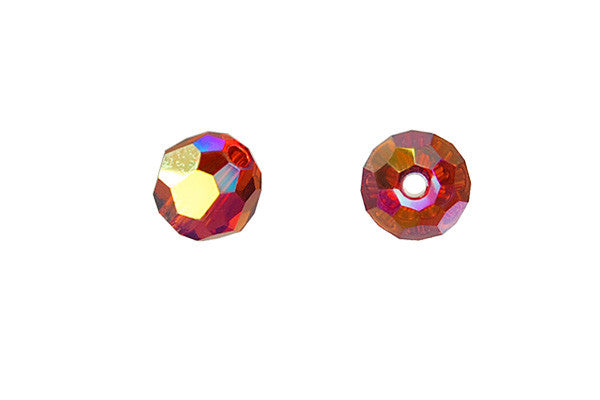 Swarovski Crystal Faceted Round (5000) Indian Red (AB2X)