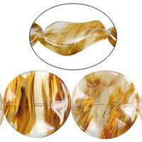 Tiger Quartz Wavy Coin