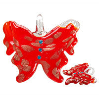 Pendant Murano Foil Glass Butterfly (YH04)