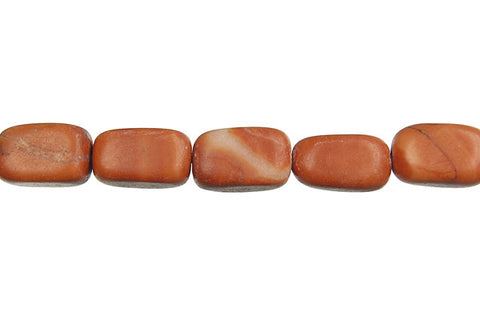Red Zebra Jasper Smooth Nugget Beads