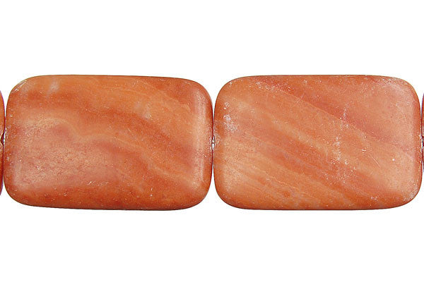 Red Zebra Jasper Flat Rectangle Beads