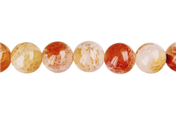 Fire Agate (Pink) Round Beads