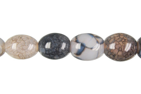 Fire Agate (Black) Drum Beads