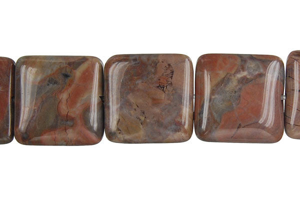 Amber Onyx Square Beads