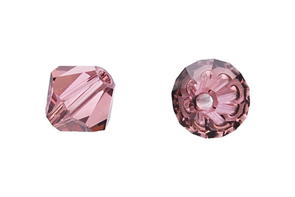 Swarovski Crystal Bicone (5301) Light Rose (Satin)