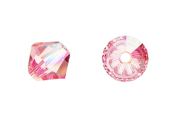 Swarovski Crystal Bicone (5301) Light Rose (AB)