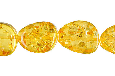 Synthetic Amber (Light) Triangle (Round Corner) Beads