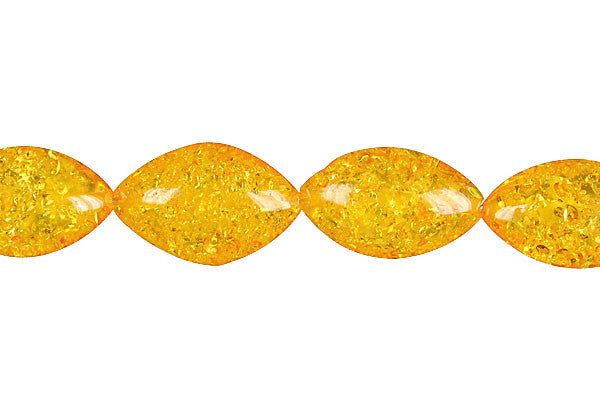 Synthetic Amber (Light) Marquise Beads