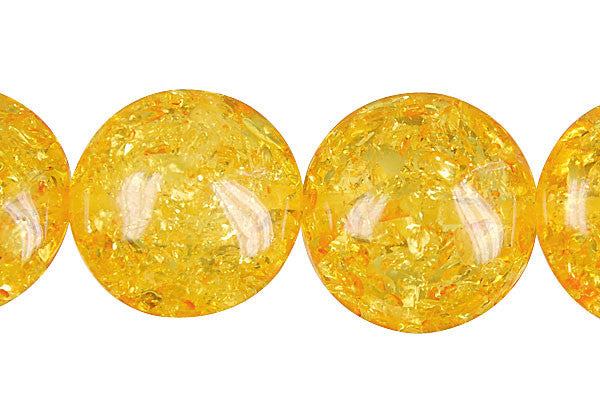 Synthetic Amber (Light) Button Beads