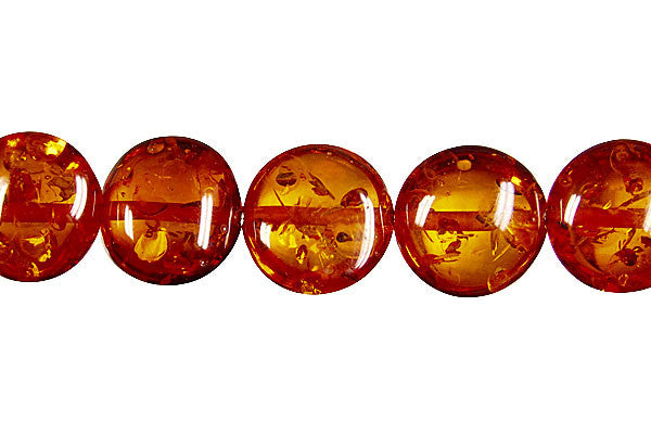 Synthetic Amber (Dark) Button Beads