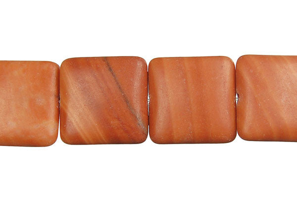 Red Zebra Jasper Square Beads