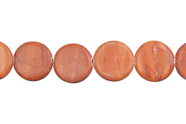 Red Zebra Jasper Coin Beads