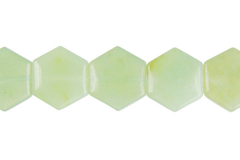 New Jade Octagon Beads