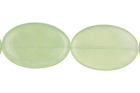 New Jade Flat Oval Beads