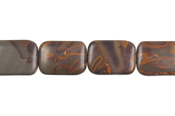 Golden Jasper Flat Rectangle Beads