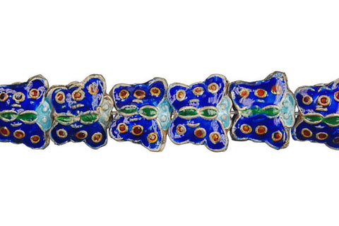 Cloisonne (A) Butterfly (Blue) Beads