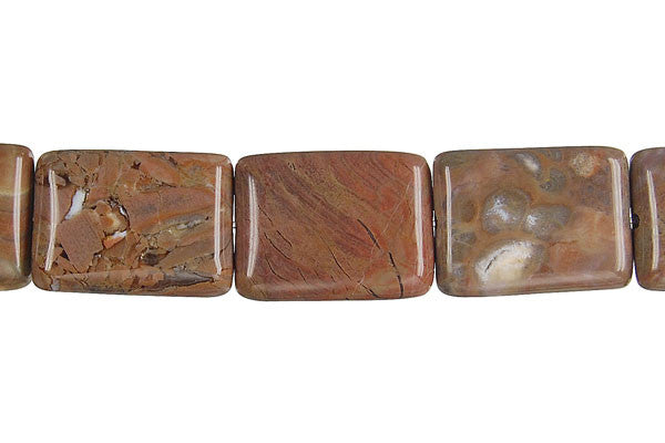 Amber Onyx Flat Rectangle Beads
