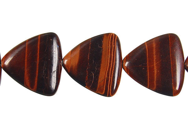 Red Tiger Eye Triangle Beads