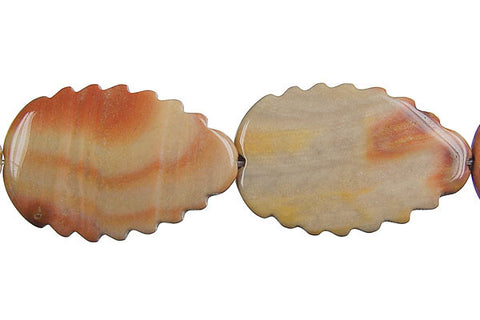 Rainbow Onyx Leaf (Vertical Drilled) Beads