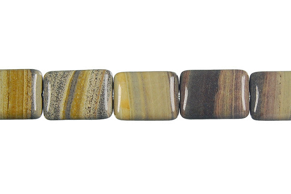 Rainbow Onyx Flat Rectangle Beads