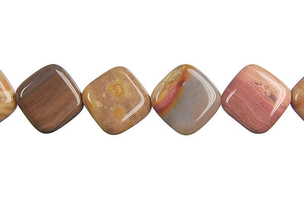 Rainbow Onyx Diamond Square Beads
