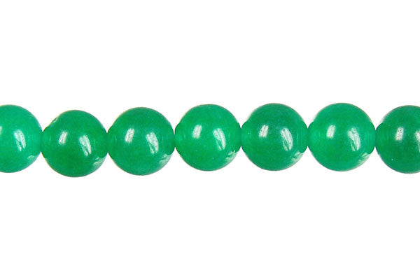 Marble (Dyed) Round (Green) Beads