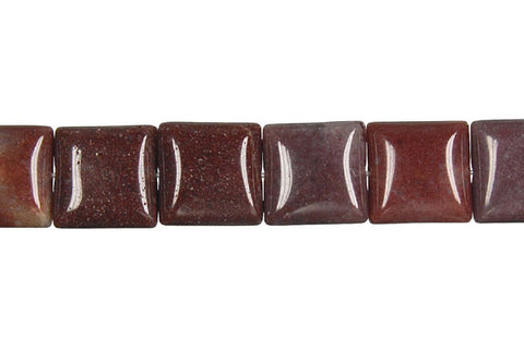 Chocolate Aventurine Square Beads