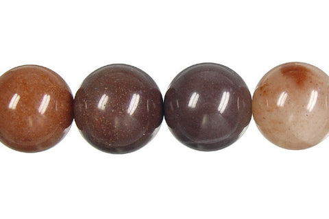 Chocolate Aventurine Round Beads