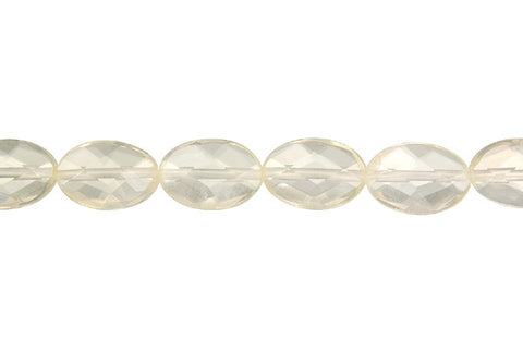 Citrine (Lemon) Faceted Flat Oval Beads