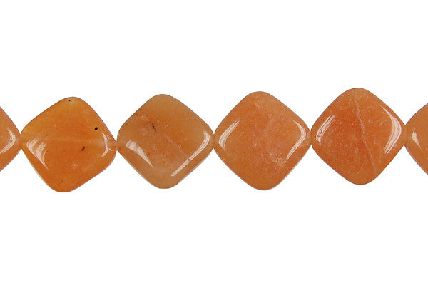 Carnelian Diamond Square Beads