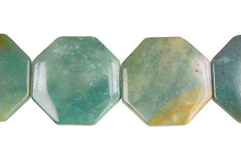 Fancy Jasper Octagon Beads