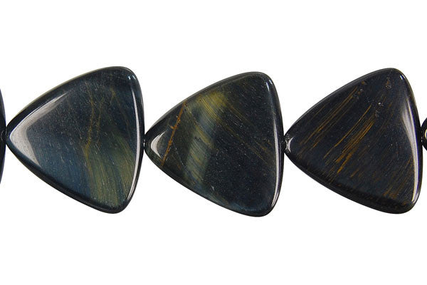 Blue Tiger Eye Triangle Beads