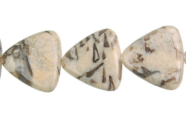 Silkworm Jasper Triangle Beads