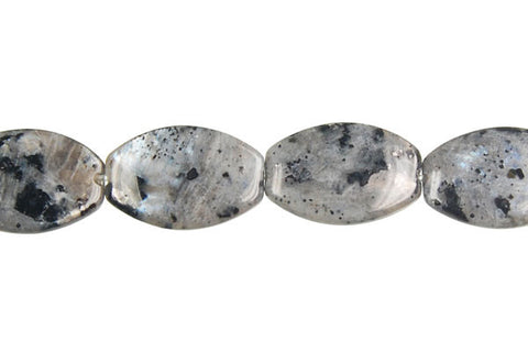 Larvikite Oval Rectangle Beads