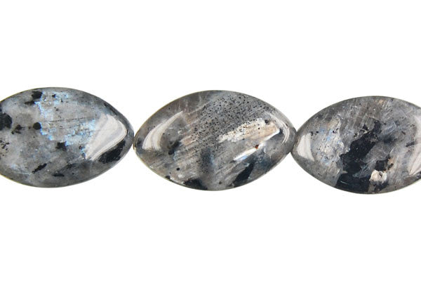 Larvikite Flat Rice Beads