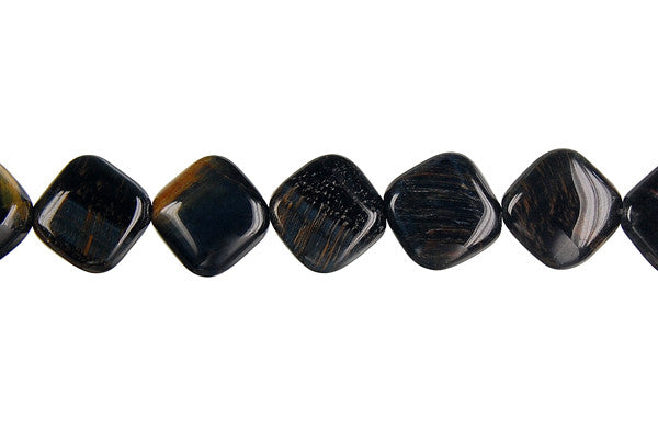 Blue Tiger Eye Diamond Square Beads