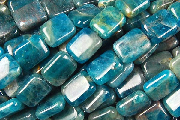 Apatite Flat Rectangle Beads