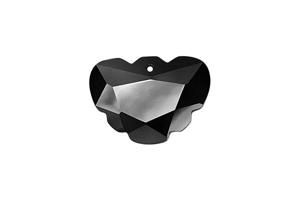 Pendant Cubic Zirconia Faceted Butterfly (Black)