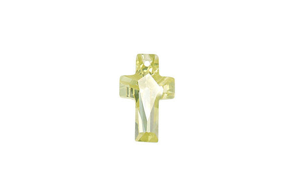 Pendant Cubic Zirconia Faceted Cross (Olivine)
